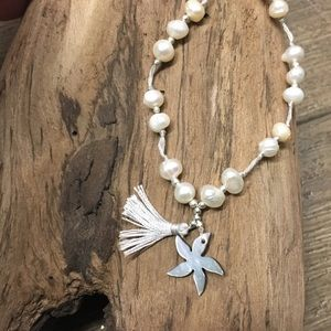 Pearl starfish adjustable necklace NWT
